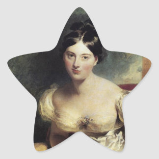 Maguerite Countess of Blessington Star Sticker