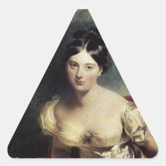 Maguerite Countess of Blessington Triangle Sticker