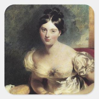 Maguerite Countess of Blessington Square Sticker