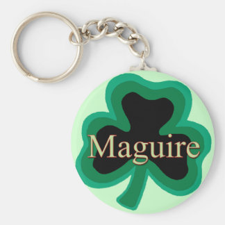 Maguire Family Basic Round Button Keychain