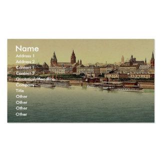 Maguncia, del puente del Rin, el Rin, magni de Ale Tarjetas De Visita