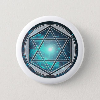 magus of number 6: the Hexagon Pinback Button