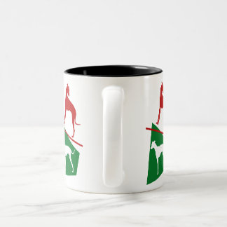 Magyar agar with the colors of Hungary Two-Tone Coffee Mug