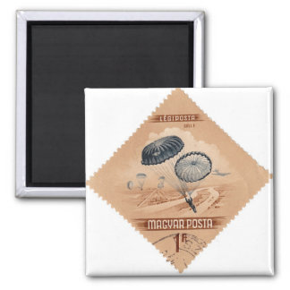 Magyar Posta Parachute 2 Inch Square Magnet