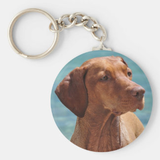 Magyar Vizsla Dog Basic Round Button Keychain
