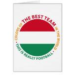 Magyarország Hungary Art Shield Greeting Card