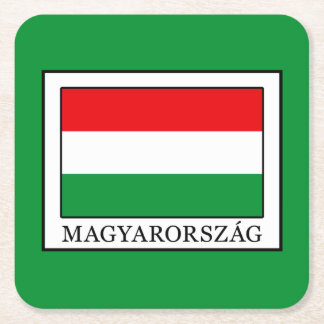 Magyarorszag Square Paper Coaster
