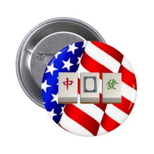 """Mah """"americano"""" Jongg Pin"""