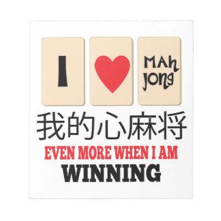 Mah Jong & WInning Note Pad