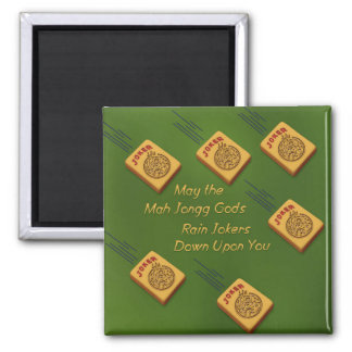 Mah Jong Wishes 2 Inch Square Magnet