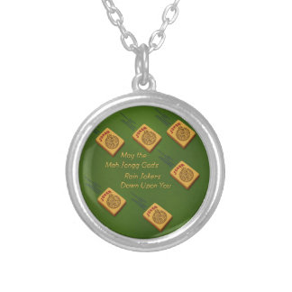 Mah Jong Wishes Silver Plated Necklace