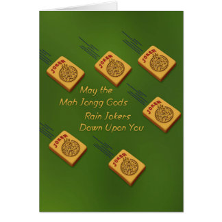 Mah Jong Wishes Stationery Note Card
