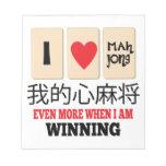 Mah Jong y el ganar Libreta Para Notas