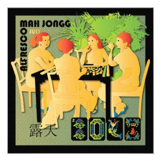 Mah Jongg 2014 Bright July Card/Invitation