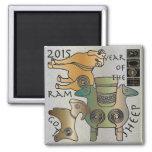 Mah Jongg 2015 Year of the Sheep Ram Goat Refrigerator Magnets