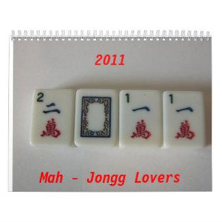 Mah-Jongg amantes 2011 Calendario De Pared