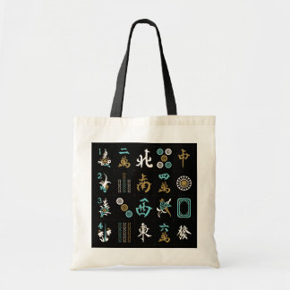 Mah Jongg Black/Aqua/Sand Bag