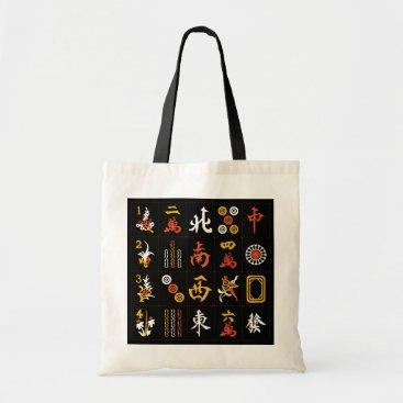 PasqualeDesigns Mah Jongg Black/Orange/Yellow Bag