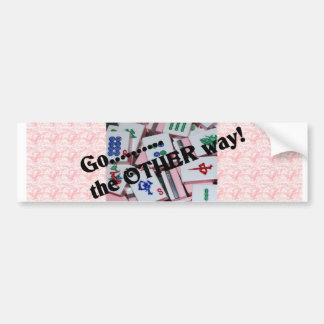 Mah Jongg bumper sticker