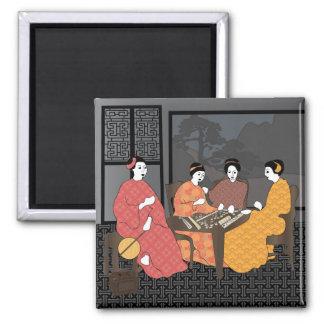 Mah Jongg Chinese Ladies Magnet