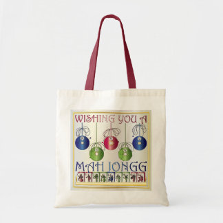 Mah Jongg Christmas Bettors Bag