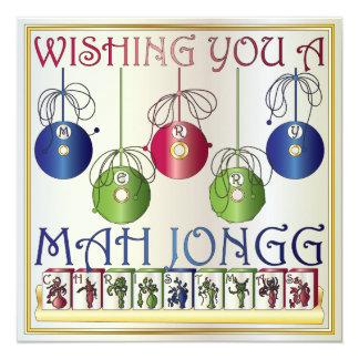 Mah Jongg Christmas Bettors Invitation/Card Card