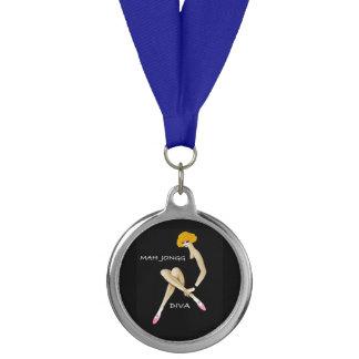 Mah Jongg Diva Blue Ribbon Medal