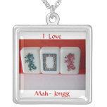 mah-Jongg dragons Necklaces
