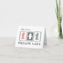 Mah Jongg Dragons Note Cards