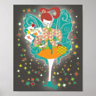 Mah Jongg Fairy Poster