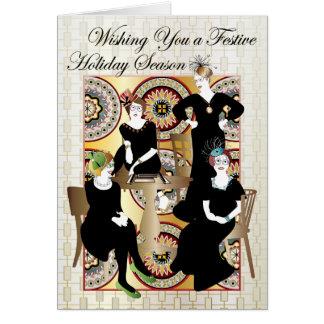 Mah Jongg Festive Card