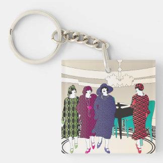 Mah Jongg Flappers Room2 Keychain
