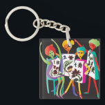 "Mah Jongg Flower Dance Keychain<br><div class=""desc"">Gifts for yourself and your Mah Jongg Friends.</div>"
