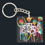 """Mah Jongg Flower Dance Keychain<br><div class=""""desc"""">Gifts for yourself and your Mah Jongg Friends.</div>"""