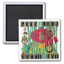 Mah Jongg Good Luck Happy Day Magnet