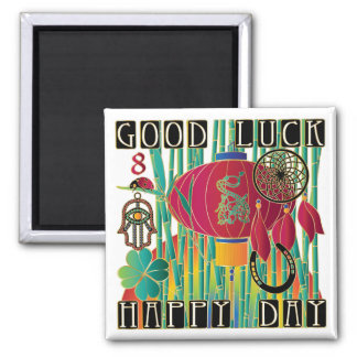 Mah Jongg Good Luck Happy Day Magnet