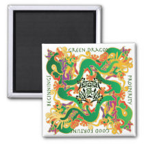 Mah Jongg Green Dragon Magnet