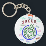 "Mah Jongg Joker Keychain<br><div class=""desc"">Perfect for gifts and prizes at your next party or tournament.</div>"