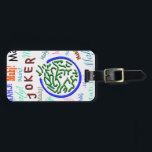 """Mah Jongg Joker Luggage Tag<br><div class=""""desc"""">This colorful joker luggage tag will stand out.</div>"""