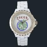 """Mah Jongg Joker Watch<br><div class=""""desc"""">Have a joker on your wrist with this elegant watch.</div>"""