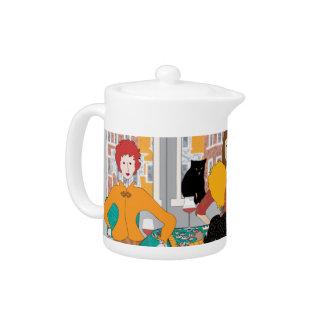 Mah Jongg Mahj Night Teapot