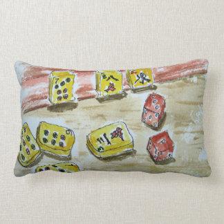 """Mah Jongg (mahjong) Throw Pillow Lumbar 13"""" x 21"""""""