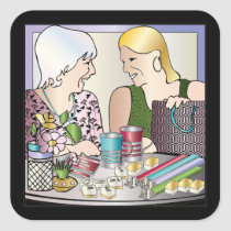 Mah Jongg Mother's Day Square Sticker
