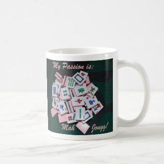 mah jongg mug- script coffee mug