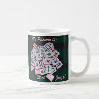 mah jongg mug- script - Customized Coffee Mug