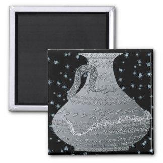 Mah Jongg New Year 2013 Vases Grey Magnet