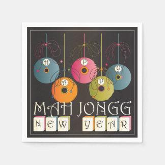 Mah Jongg New Years Paper Napkin