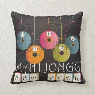 Mah Jongg New Years Pillow