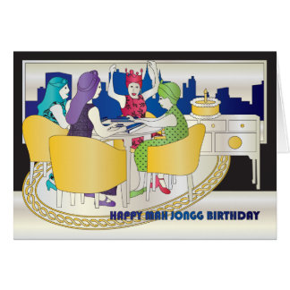 Mah Jongg New York Birthday Card