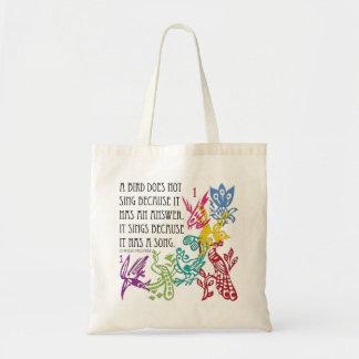 Mah Jongg One Bams Birds/Proverb Bag